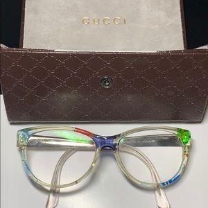 GUCCI Multicoloured Eye Glasses + GUCCI Case